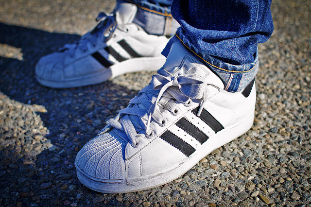 Adidas Shell Toe - Fat Laces