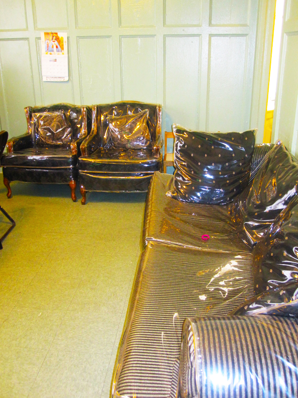 Plastic Covered Furniture images