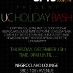 The UC Holiday Bash @ Negroclaro Lounge Thursday December 15th
