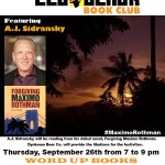 The Led Black Book Club ft A.J. Sidransky on Thursday, September 26th @ Word Up Books