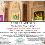 1/30/14: Memories Interlaced Closing Reception @ The Shabazz Center