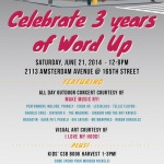 6/21/14: Celebrate 3 Years of Word Up